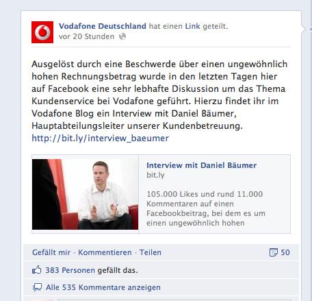 Vodafone Shitstorm
