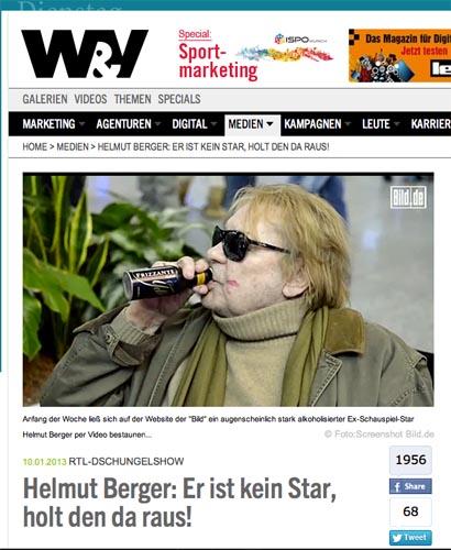 Dschungelcamp Helmut Berger