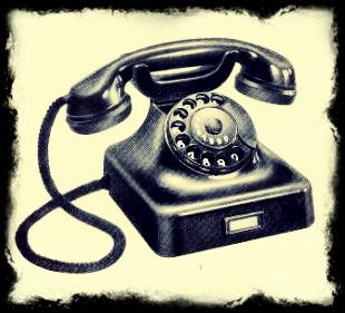 telefonieren / früher