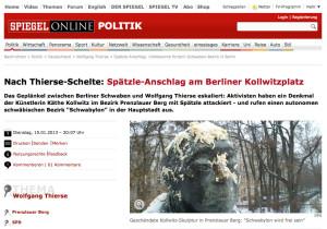 Screenshot Käthe Kollwitz Spätzleanschlag (Quelle: SPON)